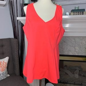 TORRID Hot Pink Fitted Peplum Tank